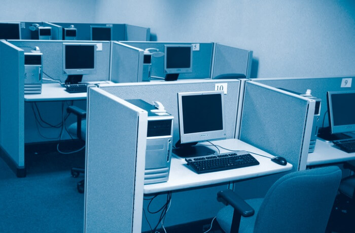 blue office partitions
