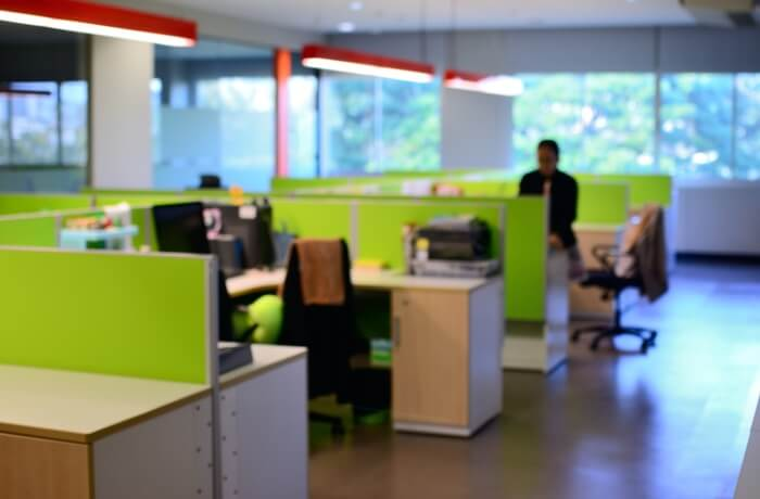 green office partitions