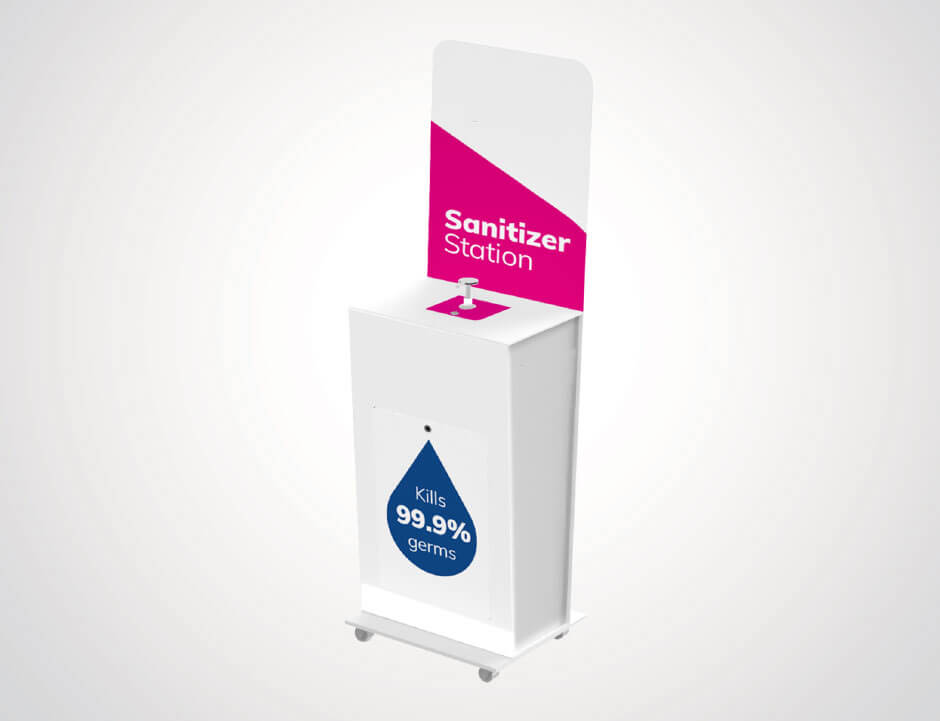 Free standing Pump sanitiser stations