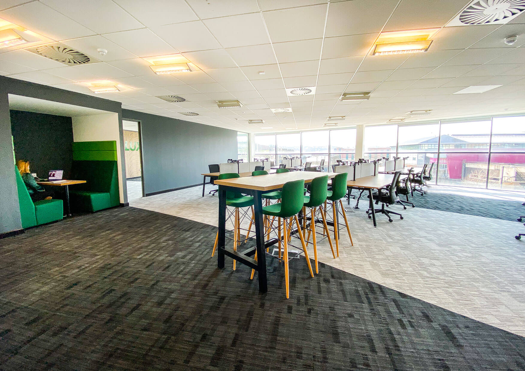 Office Fitout in open plan format
