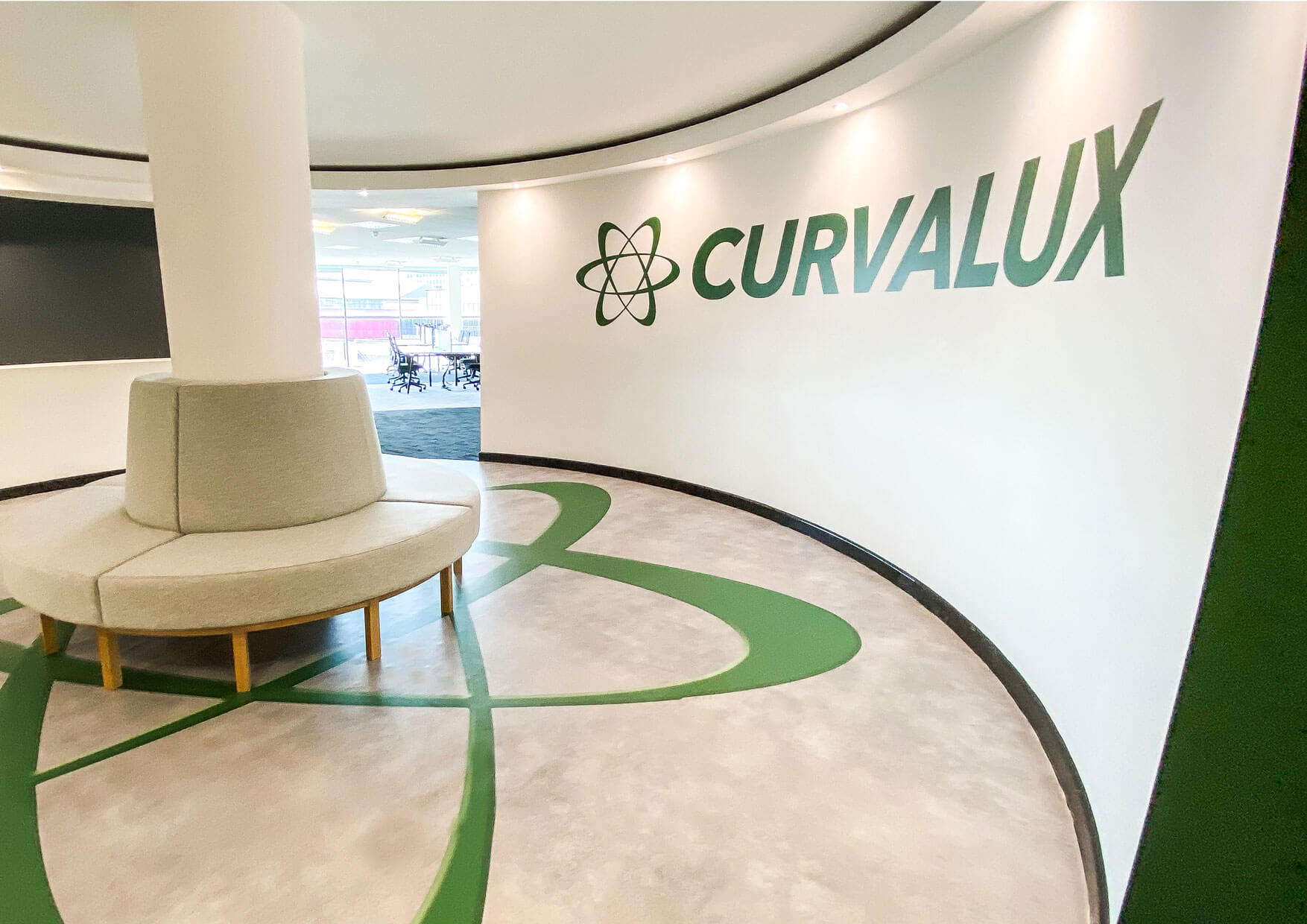 Fitout of Curvalux Office in the Electric Works Sheffield
