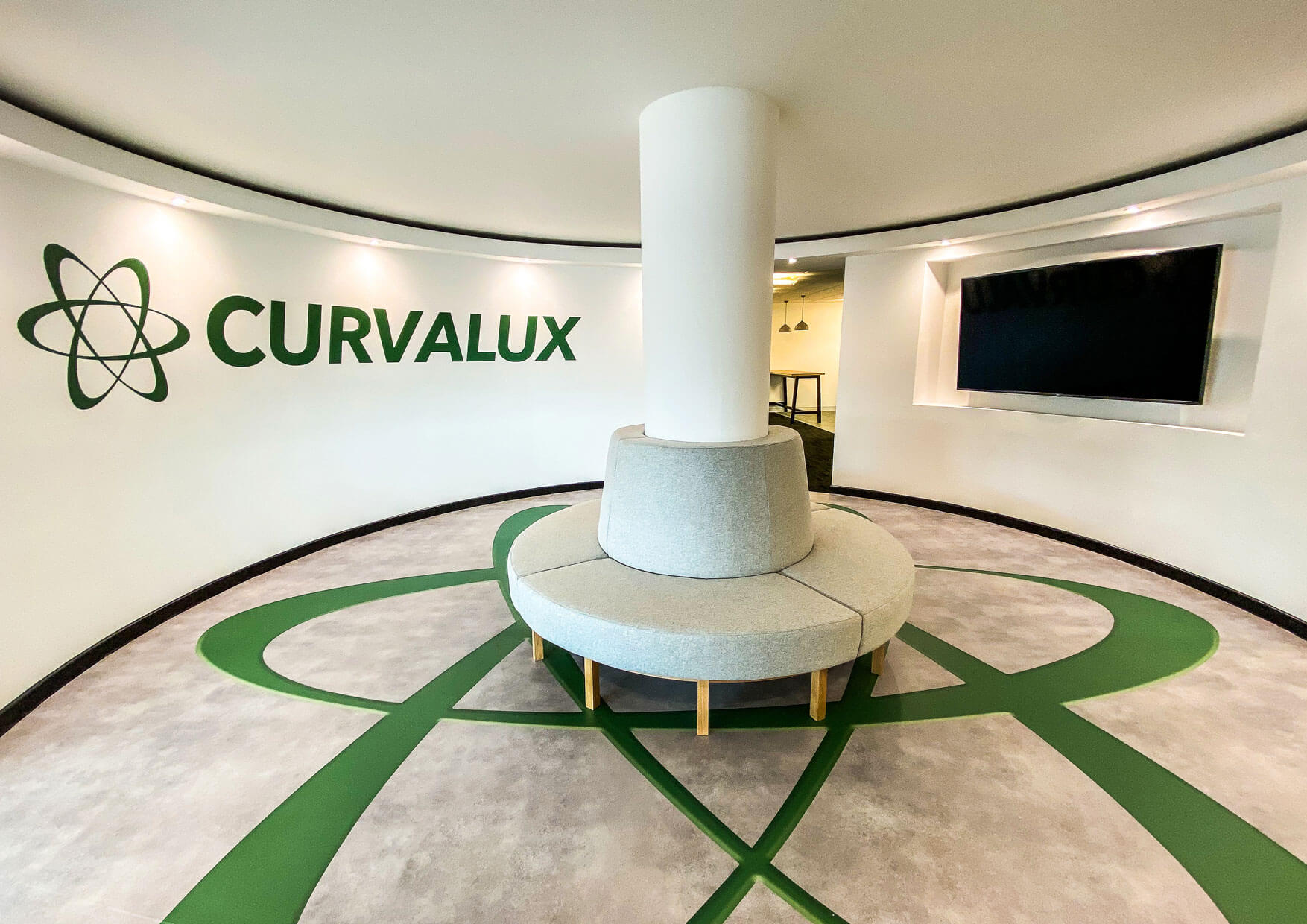 Curvalux Guest Welcome Area