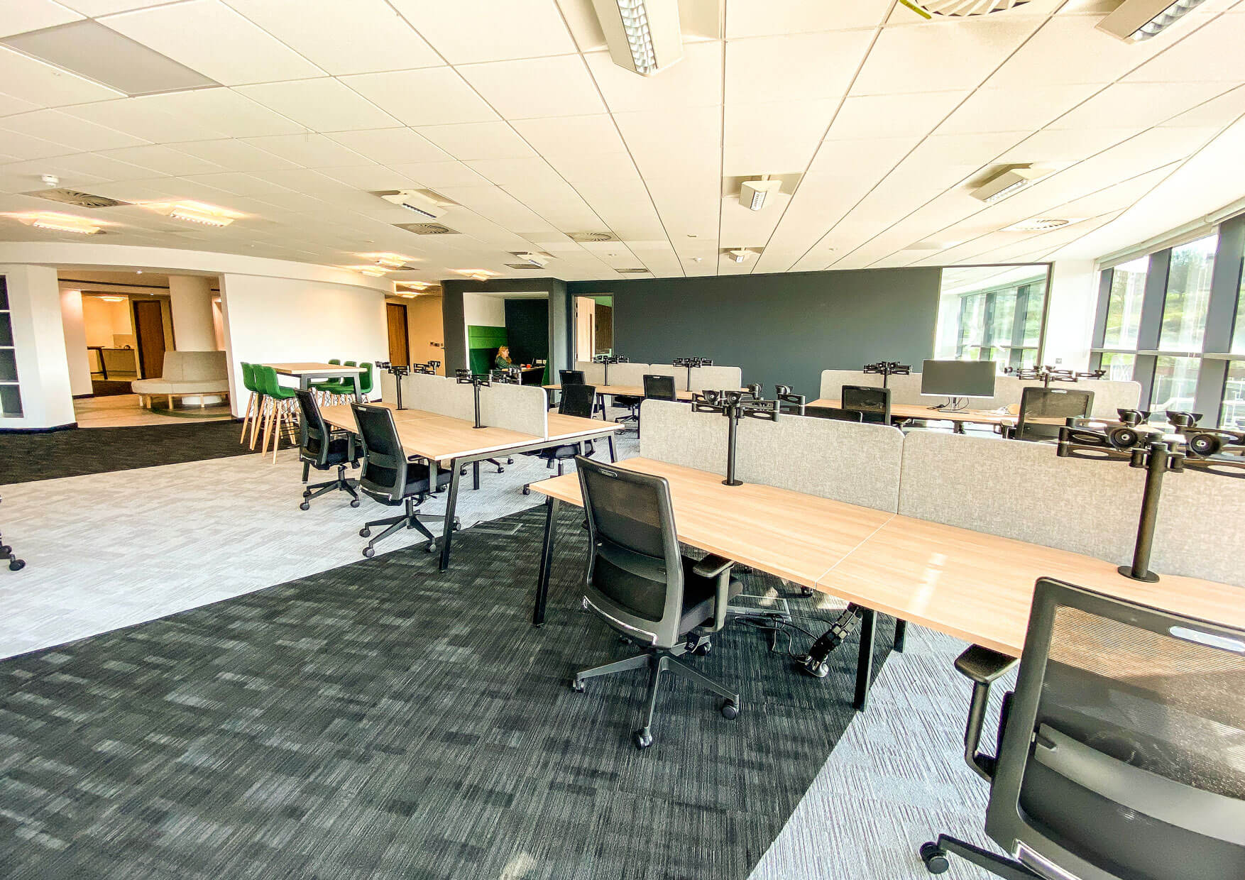 Open plan office after fit-out