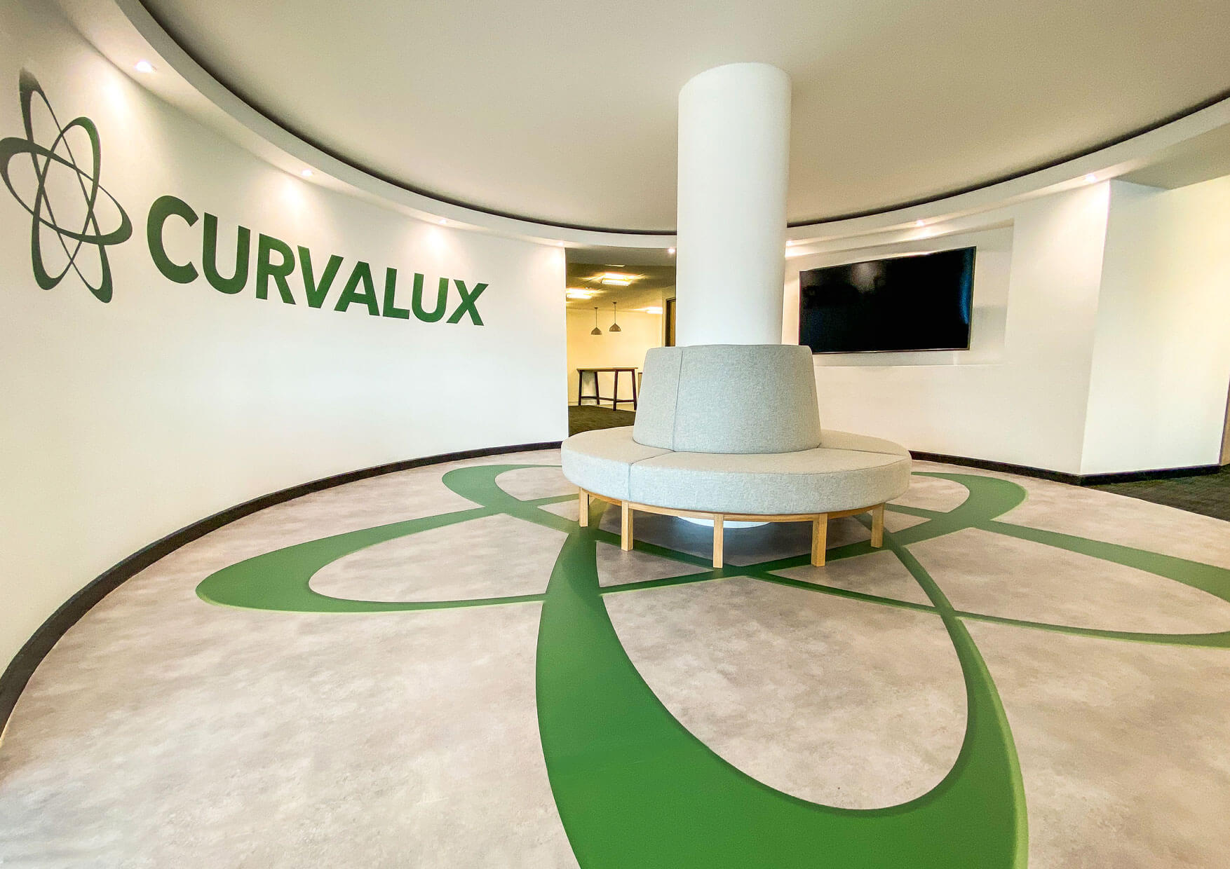 Curvalux HQ Welcome Area
